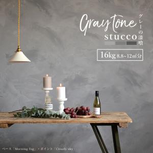 漆喰 しっくい グレー 練済み 塗り壁 グレーの漆喰 練済み 1箱16kg 約8.8〜12平米 畳 ...