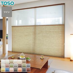 プリーツスクリーン オーダー 14,640円〜 TOSO プリーツスクリーン ツインスタイル 葉月__pleats-ts-t24