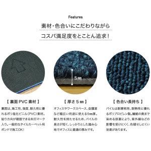 タイルカーペット リスタオリジナル タイル カーペット RESTA001 インディゴブルー 50×50 1ケース (20枚入) __case-r-resta001|kabegamiyasan|04