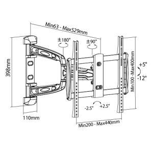 壁掛けテレビ金具 金物 TVセッターアドバンス AR113 Mサイズ|kabekake-shop|15