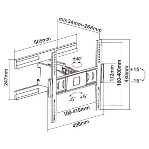 壁掛けテレビ金具 金物 TVセッターアドバンス SA124 Mサイズ|kabekake-shop|15