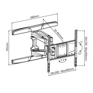 壁掛けテレビ金具 金物 TVセッターフリースタイル VA126 Mサイズ|kabekake-shop|15