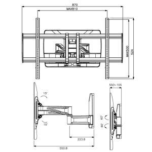壁掛けテレビ金具 金物 TVセッターハイライン HA124 Mサイズ|kabekake-shop|15