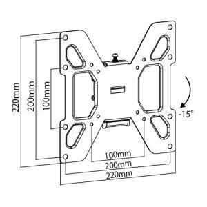 壁掛けテレビ金具 金物 TVセッターチルト EI122 Sサイズ|kabekake-shop|03