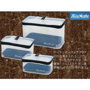 ※釣武者 納期4〜7日かかる場合があります クーラーインバッグクリア サイズ M|kabu-kazumi