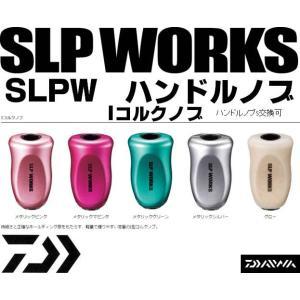 ※ダイワ DAIWA SLP WORKS Iコルクノブ メタリックシルバー SLPW ハンドルノブ 4560454381484|kabu-kazumi