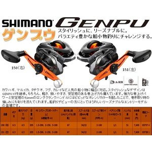 ※シマノ17ゲンプウ151(左)  SHIMANOGENPU 151(左) 4969363037381 2017DEBUT|kabu-kazumi