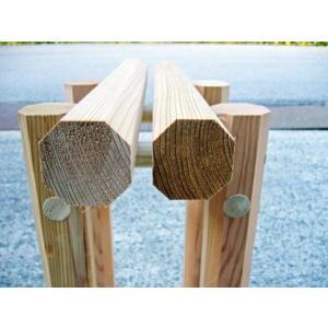 桧八角材(直径36ミリ)2メートル節あり特一等材/木工・DIYにも利用可能