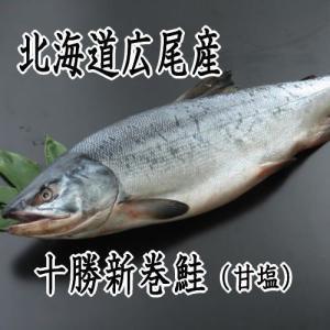 【送料無料】北海道広尾産 【特大】十勝新巻鮭 3.5kg前後|kabusui