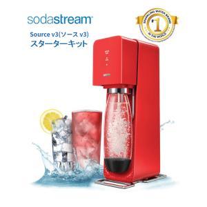 ソーダストリーム ソースV3 SSM1064 レッド Soda Stream Source V3 /...