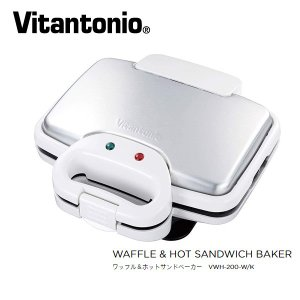 Vitantonio VWH-200-W ホワイト ビタントニオ ワッフル&ホットサンドベーカー 1...