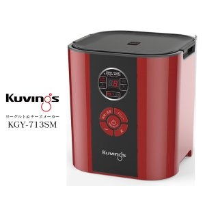 kuvings KGY-713SM-R レッド クビンス ヨーグルト チーズ メーカー メニューを選...