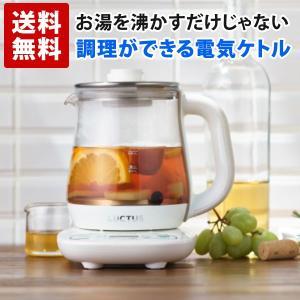 お茶や調理ができる 電気 ケトル 温度調節 クックケトル 保温 ガラス 0.8L SE6300