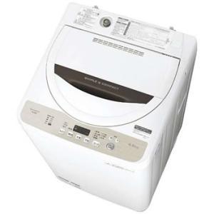 ES-GE4B-C シャープ 4.5kg 全自動洗濯機 (ベ...