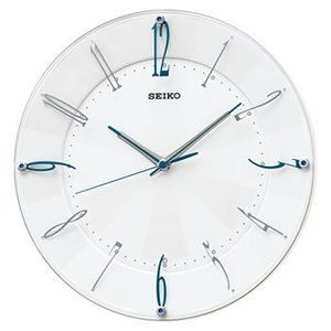 KX214W セイコー 電波クロック アナログ掛け時計