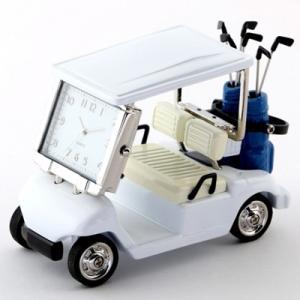MC-C3570-WH ミニチュアクロック 置時計 ゴルフカート