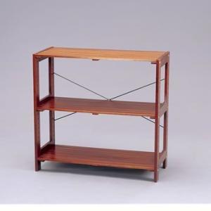 ナチュラルテイストな木製ラックです。床に傷がつくのを防ぐフェルトが4枚付いています。別売パーツとの組...