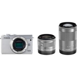 EOSM100WH-WZK ホワイト Canon ミラーレス一眼 EOS M100 ダブルズームキット kadenfamiliar