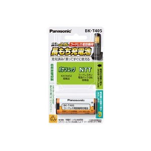 Panasonic コードレス電話機用電池 充電式ニッケル水素電池 BK-T405 パナソニック|kadensentai
