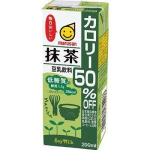 【納期目安:2週間】マルサンアイ 4901033004934 マルサン 豆乳飲料 抹茶 カロリー50%オフ 200mL*12本入|kadenya