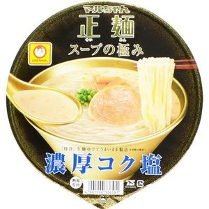 【納期目安:1週間】東洋水産 E479305H 【ケース販売】マルちゃん正麺 カップ スープの極み 濃厚コク塩 103g×12個