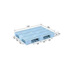 <title>ds-1647357 三甲 サンコー プラスチックパレット プラパレ 両面使用型 段積み可 R4-811F ライトブルー 青 特売 ds1647357</title>