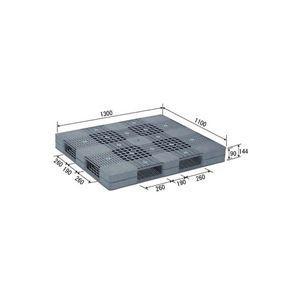ds-1647462 送料無料新品 三甲 サンコー プラスチックパレット 限定Special Price プラパレ 両面使用型 グレー ds1647462 段積み可 灰 R4-1113