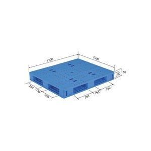 ds-1647555 三甲 祝日 サンコー プラスチックパレット プラパレ 両面使用タイプ 爆買いセール PE ds1647555 軽量 ブルー LX-1012R4