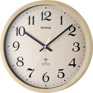【納期目安:1週間】MAG W-699-N 電波掛け時計「ペストル」 (W699N)|kadenya