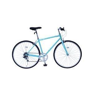 ds-1998716 6段変速 クロスバイク 【ブルー】 700C スチール 幅169cm×奥行53cm×高さ100cm サドル83cm〜101cm 重量17kg 『FIELD CHAMP』【代引不可】|kadenya
