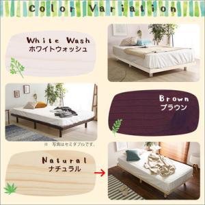 ●3段階に高さを調節できる脚付きすのこベッド