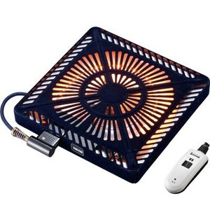 メトロ MCU-501E-K カーボン500W手元電コントロール式温風ヒーター (MCU501EK)|kadenya