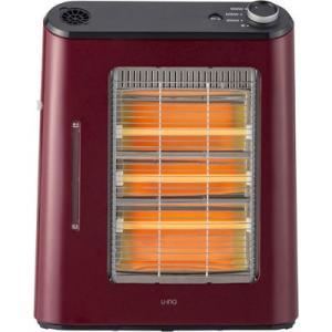 【納期目安:1週間】ユーイング US-QS900L-R 使い方に合わせて3通りの温かさ!3灯電気ストーブ(ざくろレッド) (USQS900LR)|kadenya