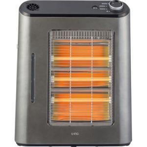 【納期目安:1週間】ユーイング US-QS900L-H 使い方に合わせて3通りの温かさ!3灯電気ストーブ(グースグレー) (USQS900LH)|kadenya