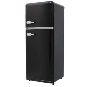 エスキュービズム WRE-2115K 2ドア レトロ冷凍/冷蔵庫 115L (オールドブラック) (WRE2115K)|kadenya