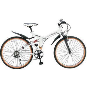 マイパラス M-670-WH 26インチ 折畳ATB自転車 6SP・Wサス ホワイト (M670WH)|kadenya