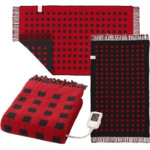 椙山紡織 SB-H501-R 大判サイズの電気ひざ掛け(レッド) (SBH501R)|kadenya