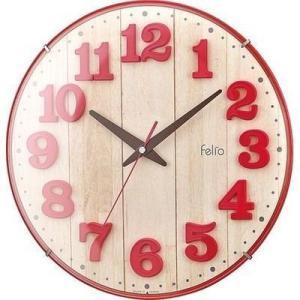 【納期目安:1週間】Felio FEW181-R-Z カラーズクロック「ブリュレ」(レッド) (FEW181RZ)|kadenya
