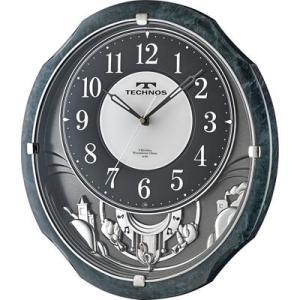 Technos テクノス W-686-SFB 掛け時計「テクノス メロディ」 (W686SFB)|kadenya
