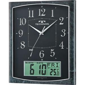 Technos テクノス W-684-SFB 掛け時計「テクノス カレンダー」 (W684SFB)|kadenya