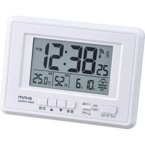 【納期目安:1週間】MAG T-693-WH-Z デジタル電波時計「ケプラー」 (T693WHZ)|kadenya