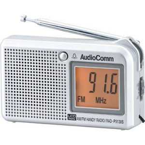 オーム電機 RAD-P5130S-S 液晶表示 ハンディラジオ 横型 (RADP5130SS)|kadenya