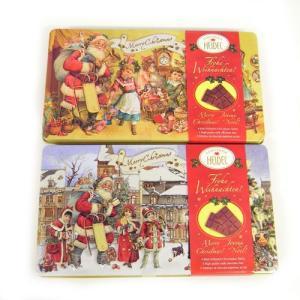 在庫 ノスタルジック チョコエンボス缶 チョコレート HEIDEL ドイツギフト・お菓子・クリスマスの商品画像|ナビ