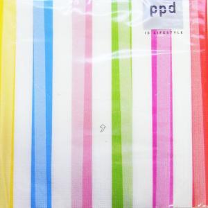ペーパーナプキン[メール便OK] フルーツ ストライプ ミックス 10枚入りppd[ドイツ製]デコパージュ・ラッピングデコパージュ|kaderia