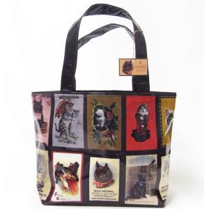 猫コーティングトートバッグ Sサイズ[猫グッズ 猫雑貨]買い物バッグ・エコバッグ[LA LUICE]キャットねこ・ネコ・CAT|kaderia