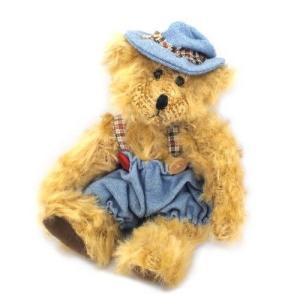 廃番在庫限り テディベアー デニム[RUSS]クマのぬいぐるみ[楽ギフ_包装][楽ギフ_包装選択][楽ギフ_のし][楽ギフ_のし宛書][楽ギフ_メッセ][楽ギフ_メッセ入力]|kaderia