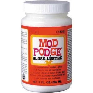 モドポッジ グロス Mサイズ  光沢有り レッドラベル MODPODGE 8oz 236mlモトポジ モッドポッジ モッドポジ 石鹸デコパージュ材料・デコパージュ溶剤|kaderia