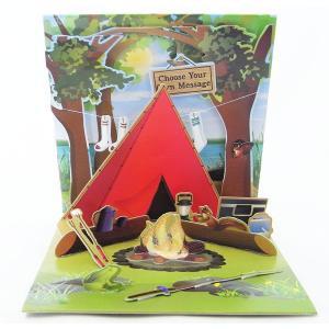 ポップアップ グリーティングカード キャンプ[Up With Paper][Treasures]立体カードメッセージ・バースデーBOY・男の子ポップアップカード|kaderia