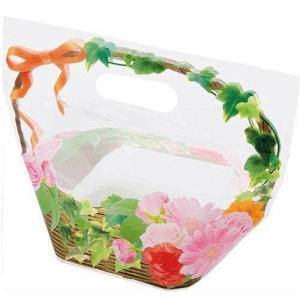 日本製 ジップ付きビニールバッグ 何でもおすそわけ袋 フォトフラワー 花かごコジット ジップバッグ ...
