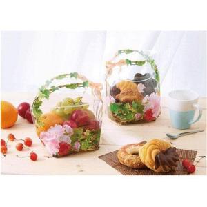 日本製 ジップ付きビニールバッグ おすそわけ袋 フォトフラワー 花かご赤コジット ジップバッグ ジップロックお菓子保存 小分け 収納 おすそ分け ラッピ kaderia 03